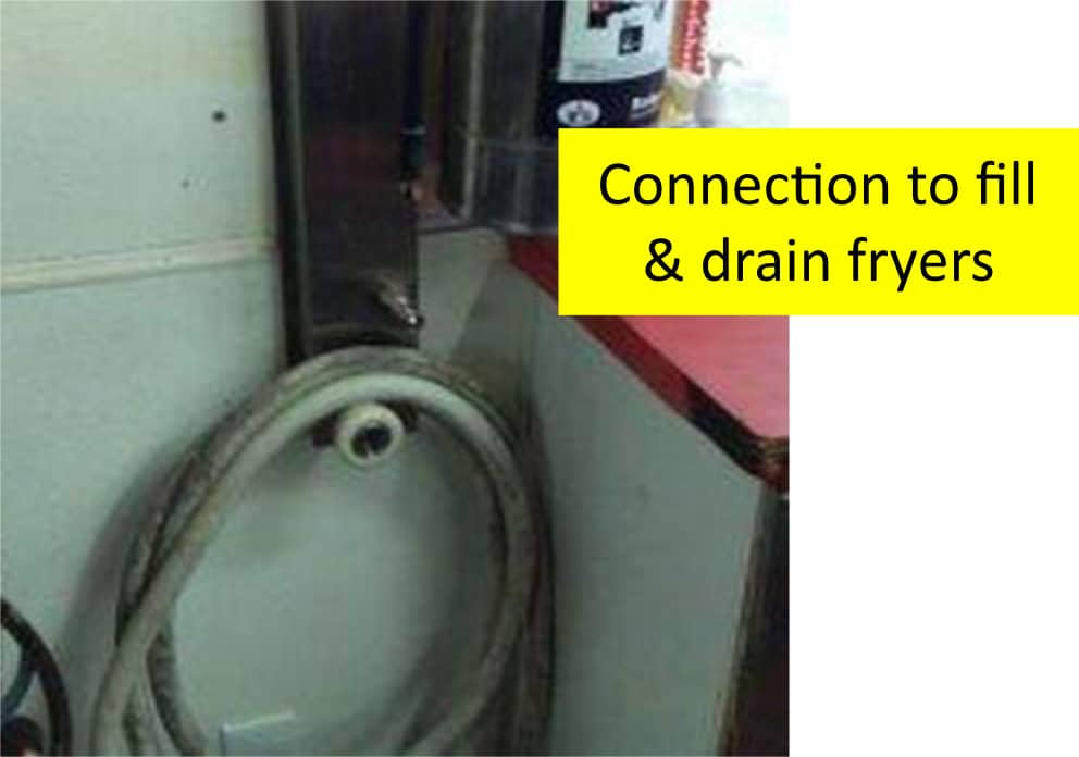 Bulk Oil Systems Connection to Fill and Drain Fryers