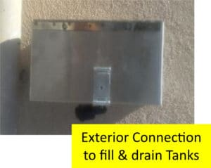 Bulk Oil Systems Exterior Connection to Fill and Drain Tanks