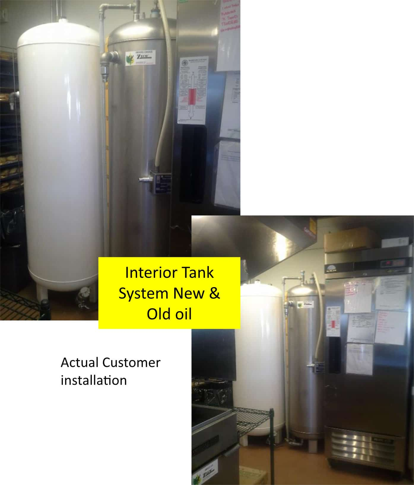 Bulk Oil Systems Interior Tank System New and Old