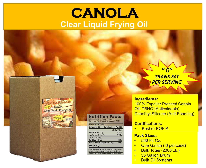 Canola Clear Liquid Frying Oil